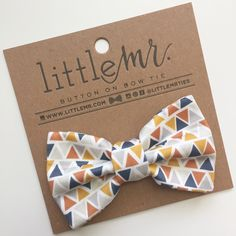 Navy Triangle Baby & Toddler Bow Tie
