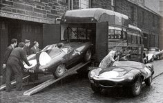 An earlier Ecurie Ecosse transporter, was as many others were, a converted coach.