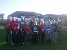 A great effort made by all the staff & golfers in their festive attire! #seasonalsweaters