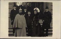 Foto Ak Kaiser Wilhelm II. von Preußen, Kaiserin, Prinzen, Frühe A... - 10014793