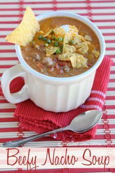 soups, dinner, nacho soup, sour cream, 15 minut, nachos, food, beefi nacho, soup recipes