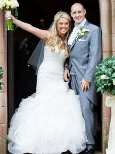 Ex Hollyoaks star beats Guillain-Barre Syndrome to walk down the aisle