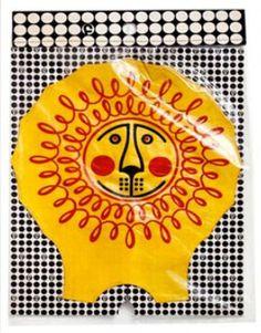 Vintage inflatable lion created by Libuše Niklová in 1964