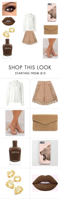 """Untitled #201"" by giovanna-coelho01 ❤ liked on Polyvore featuring See by Chloé, self-portrait, Billini, BaubleBar and Lime Crime"