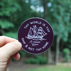 Thy World is Thy Ship and Not Thy Home St. Therese of Lisieux Sticker