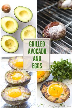 Grilled avocado and eggs is a protein-packed, energizing breakfast that will fill you with the energy you need to take on the day! | The Cozy Cook | #Avocado #Eggs #Keto #LowCarb #Protein #Healthy #Grilling #Summer #Brunch #Yolk