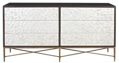 Dresser | Bernhardt Or this dresser with simpler shagreen night tables...