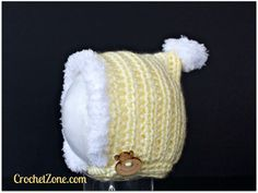 Fuzzy Bonnet Crochet Pattern by Crochet Zone