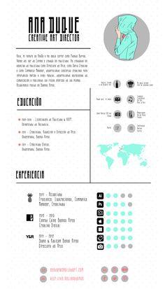 Infographic CV - Ana Duque Cv Design, Resume Design, It Cv, Visual Resume, Folders, Printed Portfolio, Infographic Resume, Resume Layout, Personal Identity
