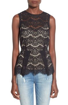 Wayf Lace Peplum Top available at #Nordstrom
