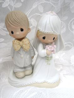 Vintage Precious Moments Bride and Groom by myabbiesattic on Etsy, $41.99