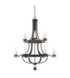 Savoy House Alsace  12 Light Chandelier in Reclaimed Wood 1-9532-12-196 photo