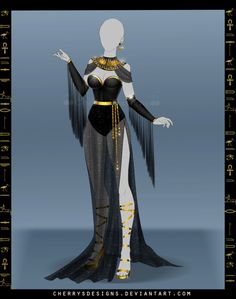 Fashion design sketches 817684876068462329 - (closed) Outfit Adopt 680 – Anubis by CherrysDesigns Source by Tht_Bb
