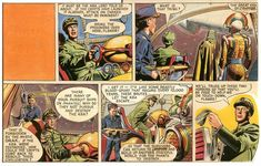 """A scan of a sequence of frames from the """"Rogue Planet"""" Dan Dare story Rogue Planet, Rogues, Dares, Original Artwork, Nostalgia, Product Launch, The Originals, Illustration, Google Search"""