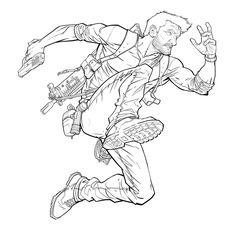 Nathan Drake Line Work by PatrickBrown.deviantart.com on @DeviantArt