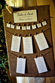 Pegs and twine for this rustic wedding seating plan. Rustic Wedding Favors, Woodland Wedding, Wedding Centerpieces, Wedding Decorations, Table Centerpieces, Nautical Wedding, The Plan, How To Plan, Wedding Blog