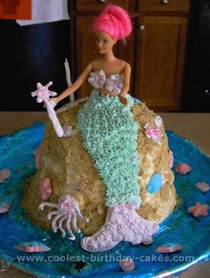 starfish shaped little mermaid cake - Google Search