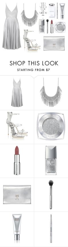 """""""Silver Lining"""" by ballereyna ❤ liked on Polyvore featuring Topshop, Lucky Brand, Giuseppe Zanotti, L'Oréal Paris, Givenchy, Christian Dior, Proenza Schouler, Japonesque, Molton Brown and Versace"""