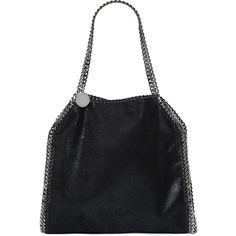 Stella Mccartney Women Falabella Shaggy Faux Deer Shoulder Bag (€1.175) ❤ liked on Polyvore featuring bags, handbags, shoulder bags, black, chain handle handbags, chain purse, snap purse, chain strap shoulder bag and snap closure purse