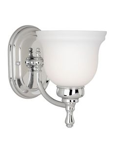 Vaxcel Lighting CL-VLU001CH Chrome Cologne 1 Light Bathroom Sconce - 5.75 Inches Wide - LightingDirect.com