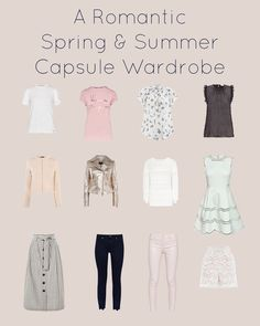 A romantic spring and summer capsule wardrobe - 70+ unique feminine stylish outfits from just a few pieces - watch now on YouTube