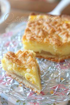 Gâteau aux pommes et crème pâtissière