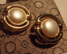 Vintage Les Bernard Clip On Earrings by AntiqueAlchemists on Etsy, $10.00