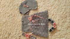 crochet baby girl set - bolero, dress, headband and booties by LovelyhandmadeRaluca on Etsy