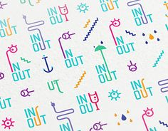"""Check out new work on my @Behance portfolio: """"Identity for IN+OUT, out-of-home advertising company"""" http://on.be.net/1hj0DBM"""