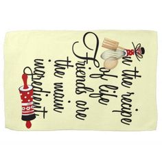 #kitchentowel Friends are the Main Ingredient Kitchen Towel