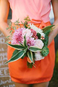 sweet bridesmaid bouquet, photo by Rebecca Arthurs Bride Bouquets, Bridesmaid Bouquet, Floral Bouquets, Diy Wedding Flowers, Floral Wedding, Wedding Colors, Bridesmaid Inspiration, Wedding Inspiration, Wedding Ideas