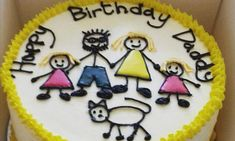Birthday Cake For Father, Fathers Day Cake, Birthday Stuff, Bithday Cake, Family Cake, Super Dad, Happy B Day, Mini Cakes, Themed Cakes
