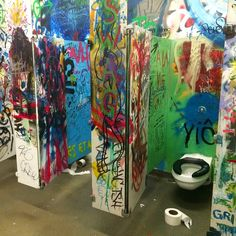 Another pic of the brilliant college washroom I saw yesterday. Check out the blog at toilography.com for a bunch more!