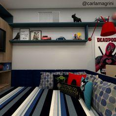 Quarto de adolescente Quarto de menino - Projeto autoral Dormitório de menino - designer de Interiores Carla Magrini #interiores #quartodemenino #quartodeadolescentemente #dormitório #decor #decoração #designdeinteriores #interiordesign #carlamagriniinteriores