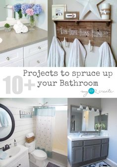 10 + Projects to spruce up your Bathroom,  great DIY projects anyone can do! MyLove2Create