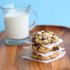 Big, Chewy, Chocolate Chip Cookies...I will always use THIS chocolate chip cookie recipe from now on :)