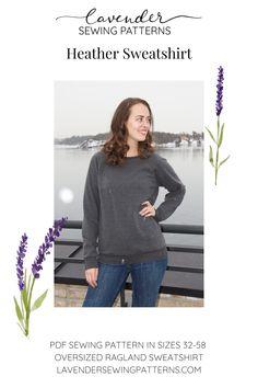 Pdf Sewing Patterns, Jumper, Lavender, Turtle Neck, Tunic, Cozy, Pocket, Sweatshirts, Winter