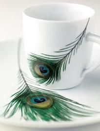 Peacock Feather Dishware