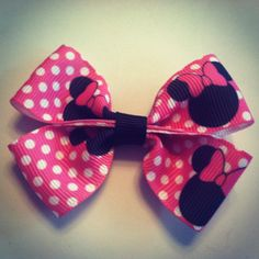 small toddler bow 3 inches hair clip hairbow by RockerBoo on Etsy, $1.75