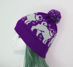AMAZING Pug Dogs Pompom Beanie Hat in a Choice of Colours by lemarousse, €12.50