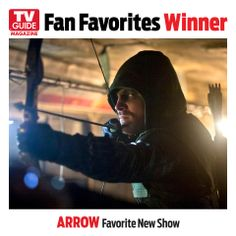 #Arrow has hit its mark in its first year with a bang! The series has won TV Guide's Fan Favorite Award for New Show, check out the series when the Fan Favorites issue hits newstands Thursday, April 18th.
