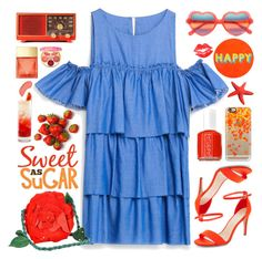 """""""Sweet as sugar"""" by doga1 ❤ liked on Polyvore featuring New Look, Emanuel Ungaro, Lisa Perry, Casetify, Essie, Belvedere, Michael Kors, tarte, Cutler and Gross and NYX"""
