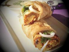 Yummy chicken mayo roll can be served as it is or with salad and it's ideal for kids' lunch or you can prepare it for a,,,