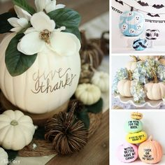 These no carve pumpkin ideas are stunning! Perfect for Fall decorating!