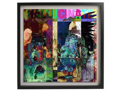 Abstract Digital Collage Wall Art Print by BeepArtsAndCrafts