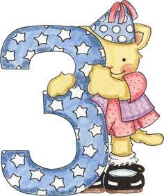 Números decorados coloridos de 1 a 10
