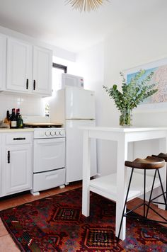 Great look in a small kitchen