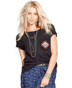 Denim & Supply Ralph Lauren Beaded-Pocket Tee