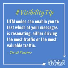 Confused about UTM codes and how, why, and when to use them? Get the scoop when you join me on the next episode of Adventures in Visibility with my guest, David Kutcher, May 12, at 10 am PT RSVP and Join Us!