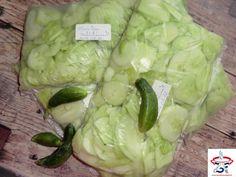 Uborka fagyasztva – salátának előkészítve, télire – Zsuzsi finomságai